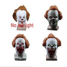 Pennywise mascarilla Led de látex It de Stephen King, 2 máscaras del casco de Joker, fiesta de Halloween, accesorios de miedo, 3 tipos, novedad de 2019