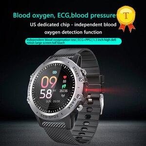"Image 4 - אק""ג PPG חכם שעון גברים ספורט מדויק קצב לב Bluetooth Smartwatch עמיד למים IP68 מדויק דם לחץ חמצן smartband"