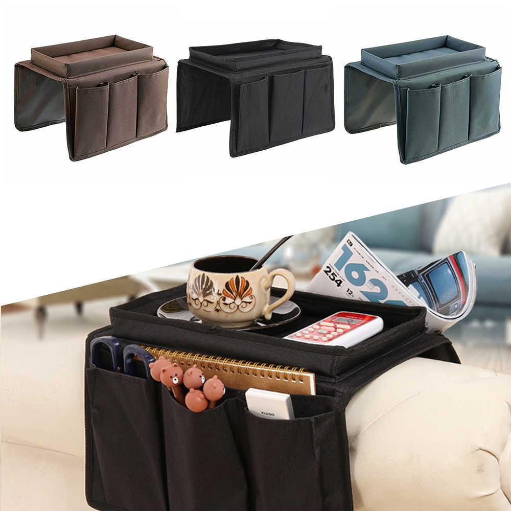 Sofa Storage Bag Chair Arm Rest Tray