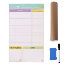 Daily Planner Magnetic Whiteboard Fridge Magnets Marker Eraser Record Message