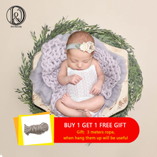 Don&Judy DIY 3pcs/lot Artificial Leaves Green Newborn Photography Props Creative Photo Baby Shooting Backdrop Studio