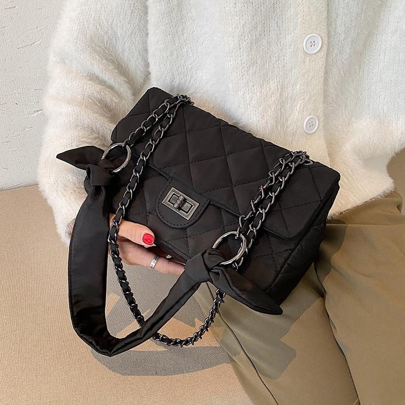 Small Black Oxford Crossbody Bags For Women 2020 Classic Shoulder Handbags and Purses Women