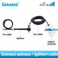 Conjunto de antena externa conjunto de cable divisor de 2 vías para actualizar 2G 3G 4G GSM repetidor de señal kit de cobertura amplia 800 ~ 2500mhz