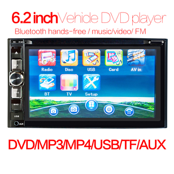 6.2 2 Din Car Radio Bluetooth Dvd Player Gps Navigation Fm Rds Rear View Camera Optional Stereo Autoradio Navigators image