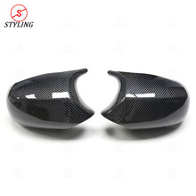 M3 E92 E82 1M Carbon Side Mirror Cover For BMW E90 E93 Dry Fiber Rear View 2008 2009 2010 2011 2012 2013