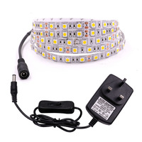 1m 5m Led Strip Light 12V 5050 SMD 60LED/M LED Tape Ribbon with DC Connector EU/US/AU/UK Switch Plug Waterproof Home Decoration|LED Strips| |  -