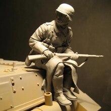 مجموعة جنود لشخصيات الراتنج لعام 1/16 مجموعة تاريخية غير مطلية ومفككة 595G