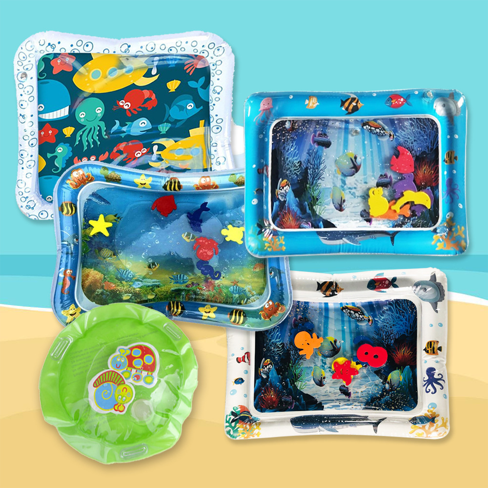 Creative Dual Use Toys Baby Inflatable Patted Pad Baby Inflatable Water Cushion Infant Play Mat Toddler Funny Pat Pad Toy