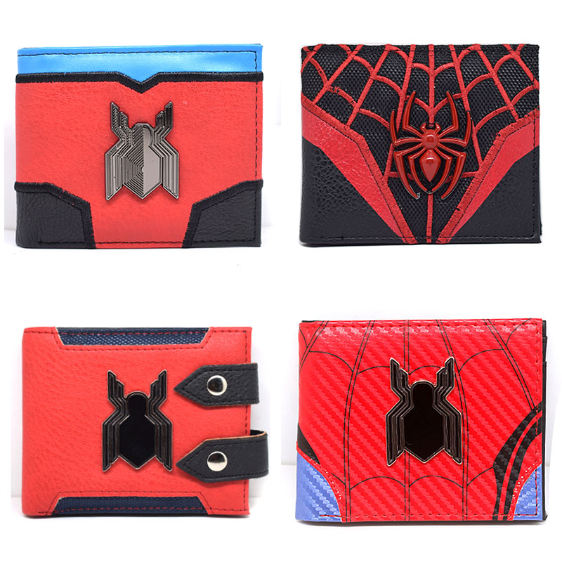 New Arrival Red Spiderman Wallets Cartoon Anime Purse Hero Creative Gift For Boy Girl ID Card Slot Men Women Short Wallet