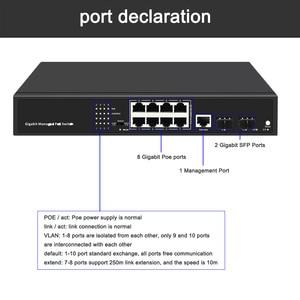 Image 5 - 10 พอร์ตPOE Gigabitเครือข่าย 2 Uplinkพอร์ตGigabit SFP + 8 Gigabit POEพอร์ตสวิทช์ 250M over EthernetสำหรับCAM