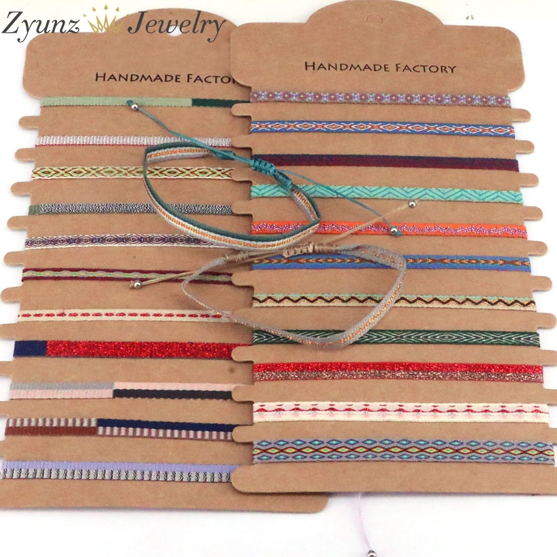 20 шт., разноцветные плетеные браслеты с узором для женщин, Pulseras Mujer, богемные регулируемые плетеные веревки, 2020, ювелирные изделия в стиле бох...