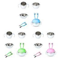7 Pcs Children's Dinnerware Set Stainless Steel Infant Feeding Bowl Dish Spoon 2020 Hot Sale