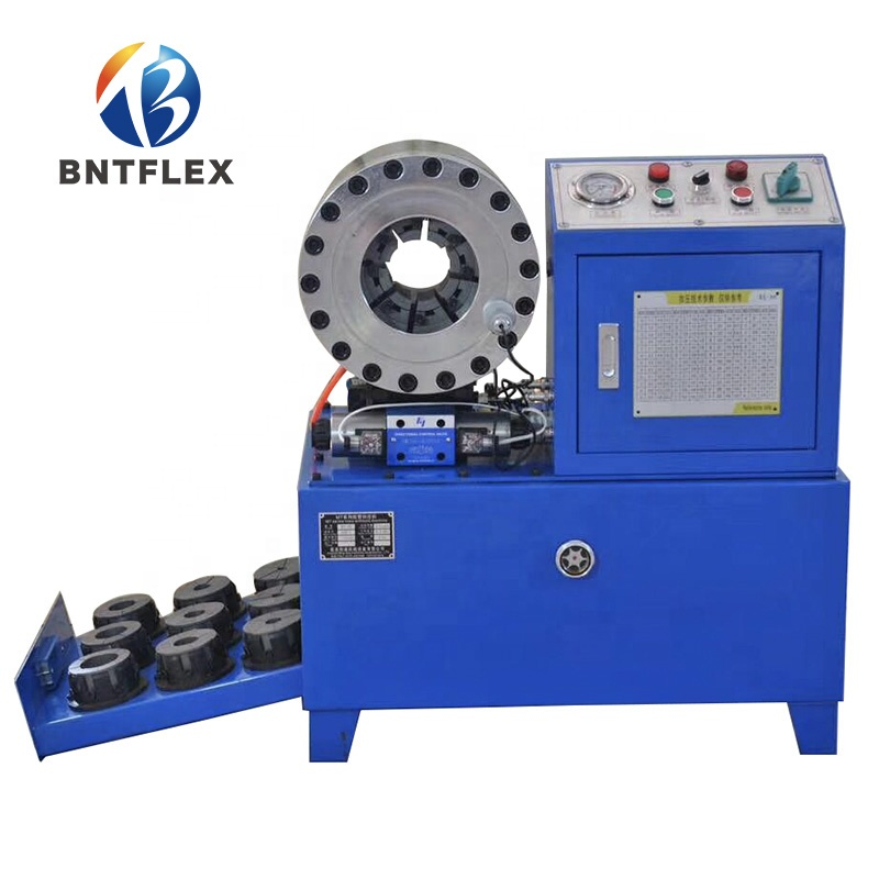 Free Shipping Door To Door Service VAT Paid BNT68  Hose Crimping Machine And Hose Cutting Machine With 15 Sets Of Crimping Dies