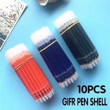 10 pçs 0.5/1.0mm gel caneta recarga assinatura do escritório hastes vermelho azul preto tinta escritório escola artigos de papelaria escrita suprimentos lida com agulha