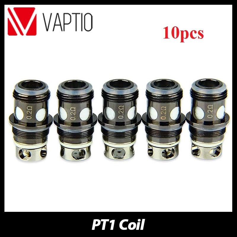 Original 5pcs Vaptio PT1 Atomizer Replacement Coil 0.25ohm Coil Head Replaceable Atomizer Head For Vaptio PT1 Tank