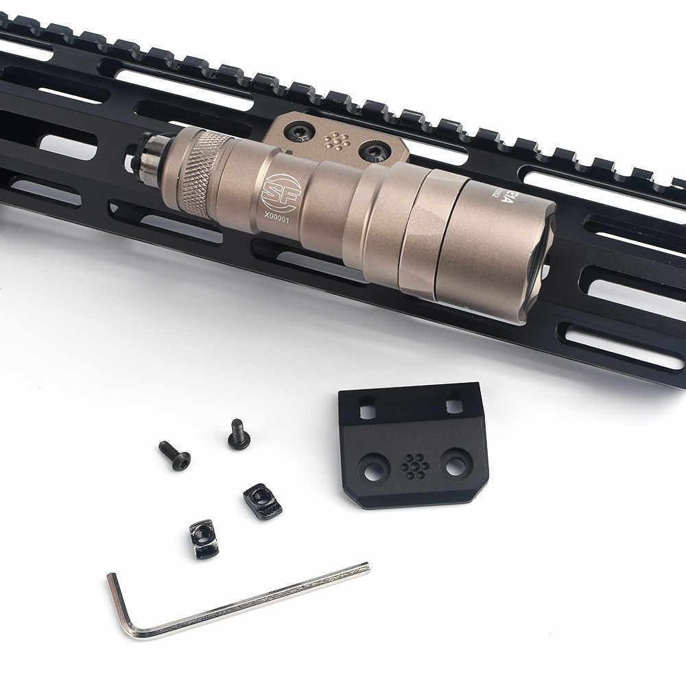 Side 45 /° WADSN Tactical 4 Slots Offset Rail Mount Aluminium pour M300 M600 Scout Light Optic Sight fit M-Lok KEYMOD Picatinny Rail