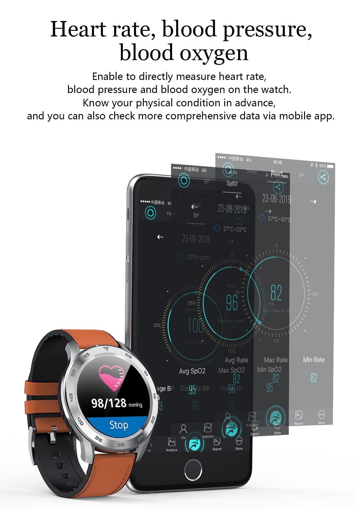 Dt98 vida relógio inteligente à prova dwaterproof