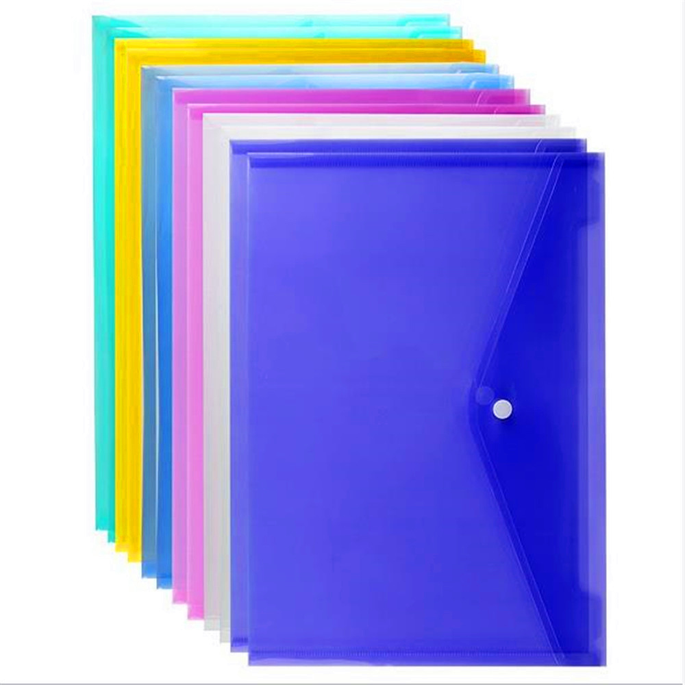 1Pcs A6 Clear Document Bag Paper File Folder Portable Stationery School Office Supplies Case PP 6 Colors Available Dropshipping