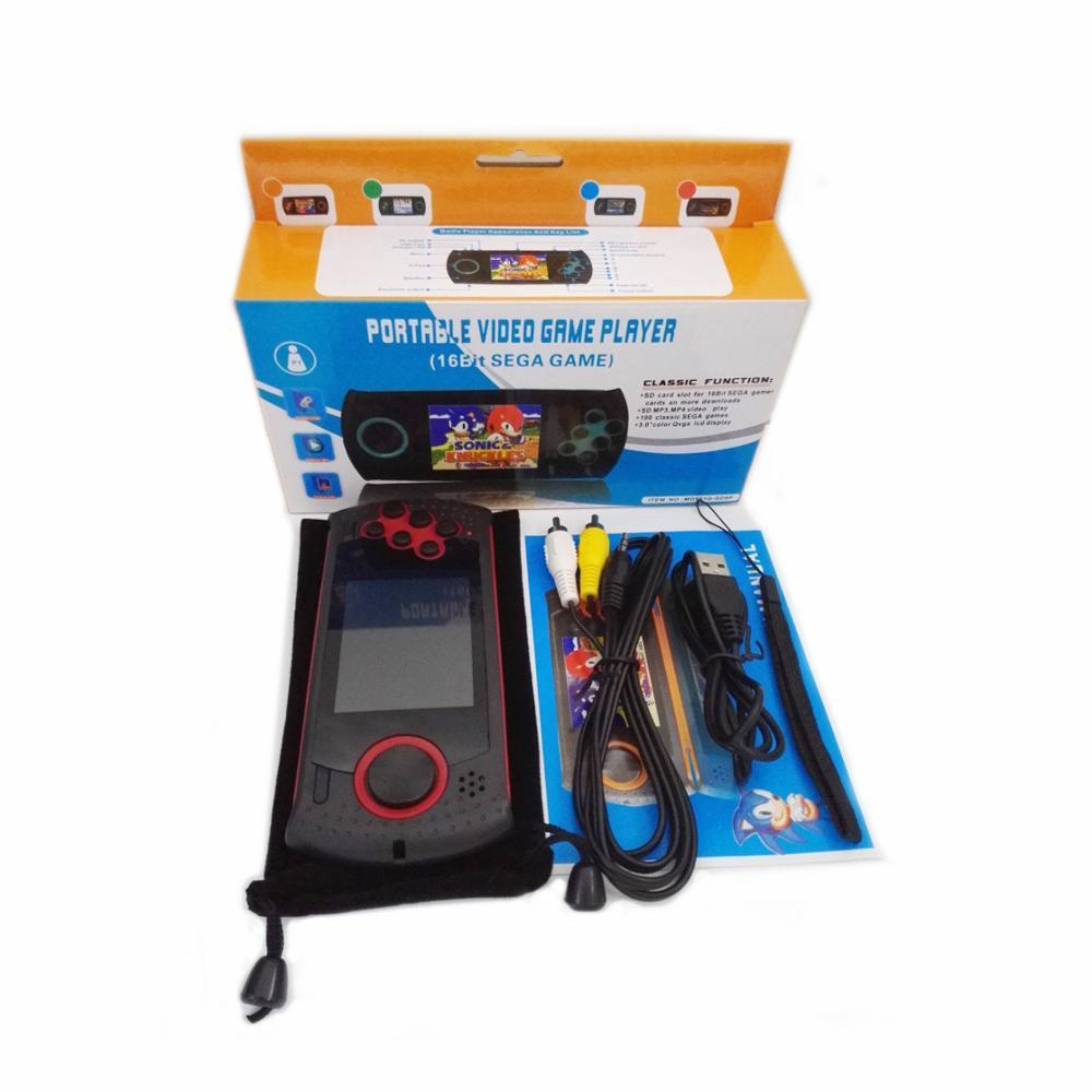 3 pouces Portable 16 bits rétro MD16 lecteur de jeux vidéo Console de jeu de poche TV sortie AV/MP3/MP4/TXI intégré 100 jeux classiques