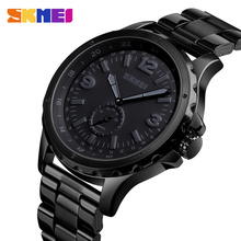 SKMEI ファッションメンズ腕時計トップブランドの高級クォーツ時計男性防水 IP 黒ステンレス鋼メッキレロジオ masculino 1513