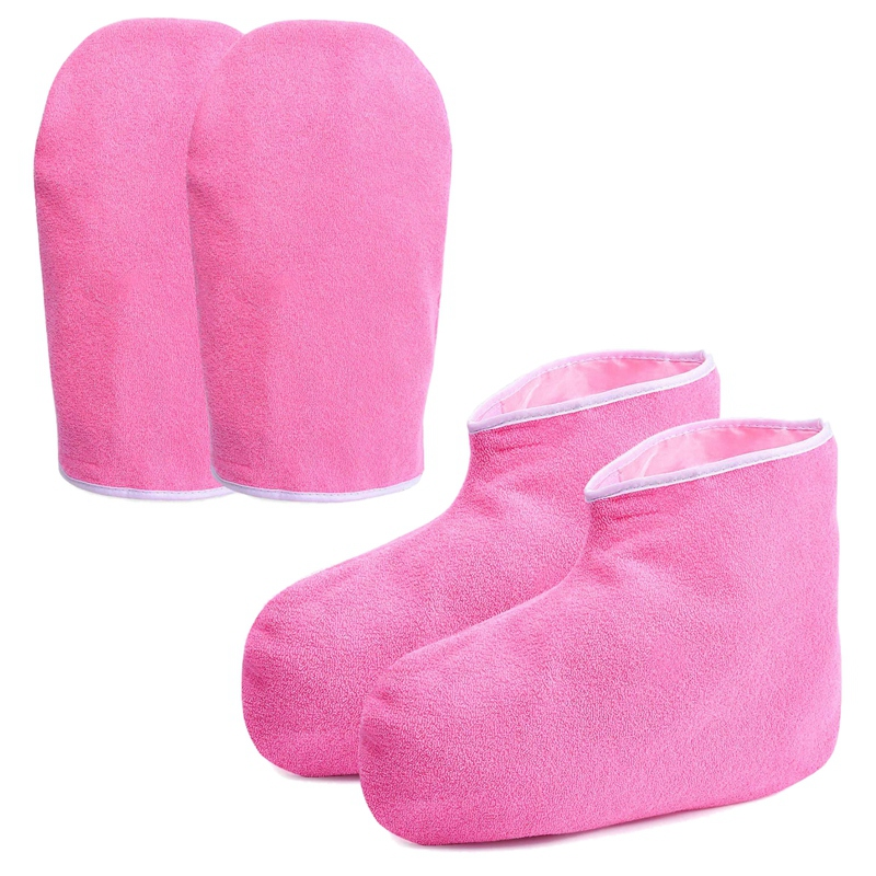 Hot Sale Paraffin Wax Bath Gloves And Booties, Moisturizing Work Gloves, Foot Spa Cover, Hand Treatment Kit, Paraffin Wax Warm