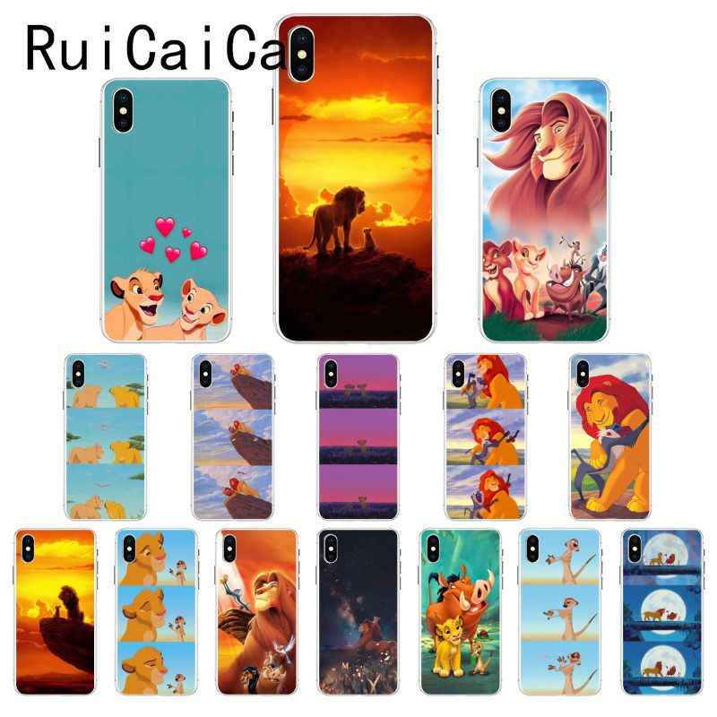 Ruicaica Lion King Simba Cartoon DIY Luxe telefoon Case voor iPhone 8 7 6 6S Plus X XS MAX 5 5S SE XR 10 Fundas Cover
