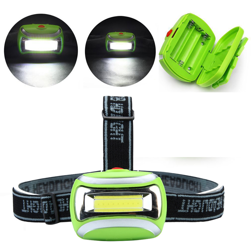 COB Outdoor LED Head Lamp Torch 3W Headlight 600 Lumens Bright Adjustable Angle Battery Best For Camping Fishing