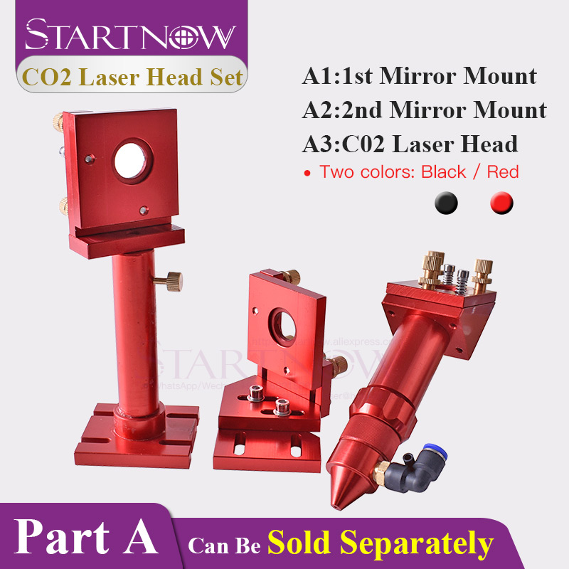 Startnow CO2 Laser Head Set Mirror Focus Lens Integrative Fixture Mount Holder For Laser Cutting Machine Mechanisms Device Parts