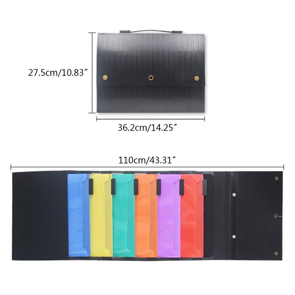 Hanging Wall Mounted File Folder Organizer Handheld Storage Magazines Portable
