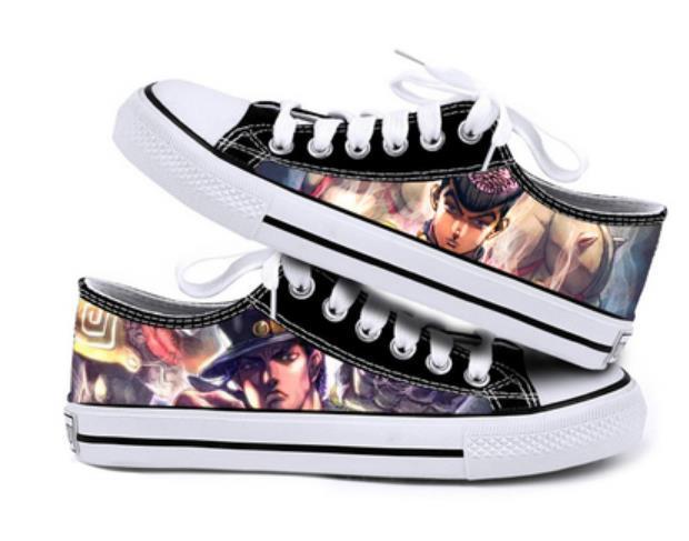 JoJo's Bizarre Adventure Anime cartoon students low help cosplay cos  shoes canvas fashion shoes casual comfortable men woman 5