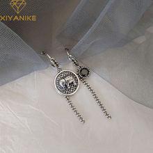 Xiyanike 925 пробы серебряные винтажные Асимметричные круглые
