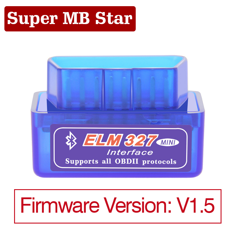 1Pc Mini ELM327 Bluetooth V1 5 OBD2 Car Diagnostic Tool Mini ELM 327 Bluetooth For Android Symbian OBDII Scanner- No PIC18F25K80