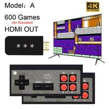 Usbワイヤレスハンドヘルドテレビビデオゲームコンソール568古典的な8ビットゲームで構築ミニコンソールデュアルゲームパッドhdmi出力