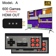Usb sem fio handheld tv vídeo game console construir em 568 clássico 8 bits jogo mini console dupla gamepad saída hdmi
