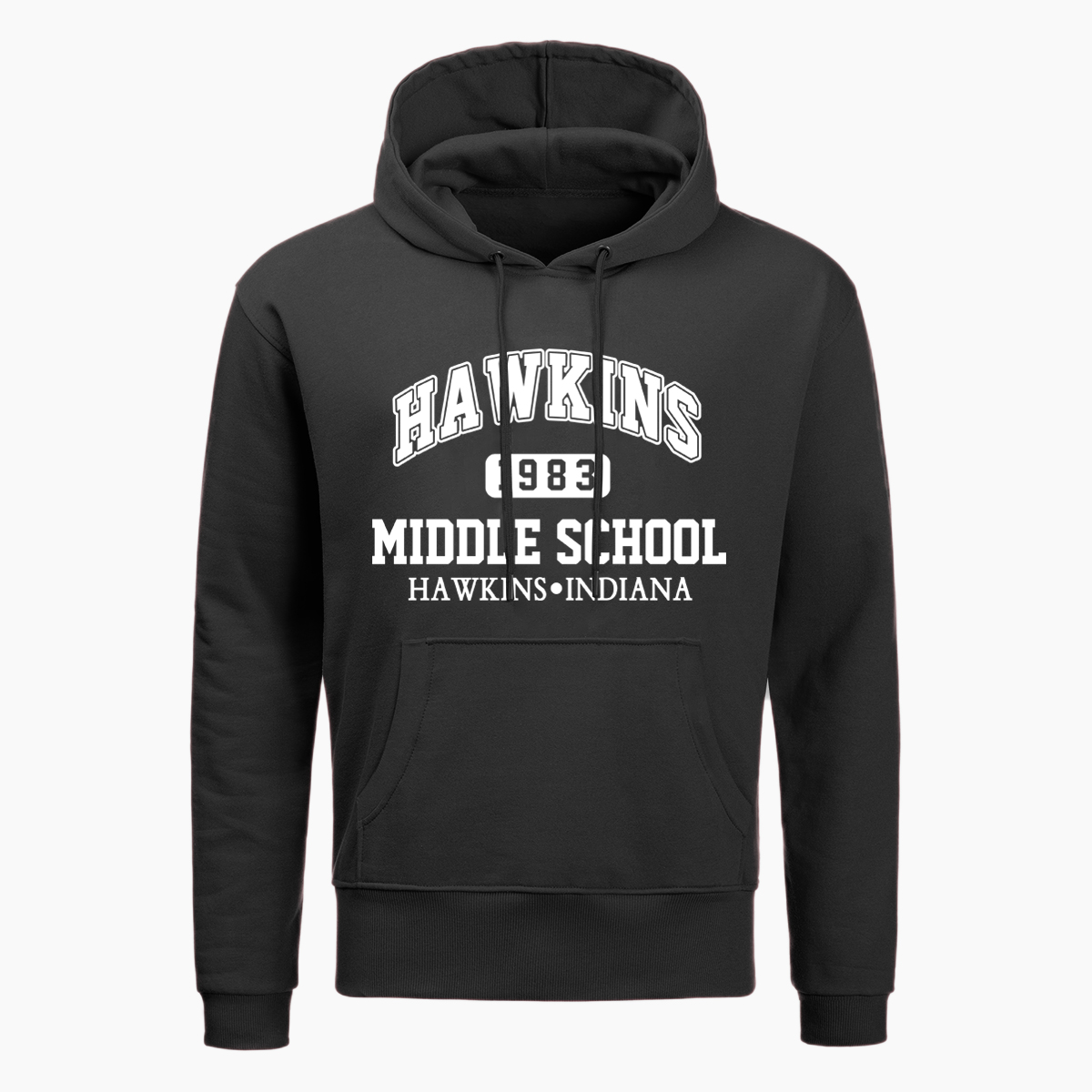 Stranger Things Hoodies Hawkins Indiana Middle School Upside Down Print Hoodie Men Funny Autumn Winter Harajuku Streetwear