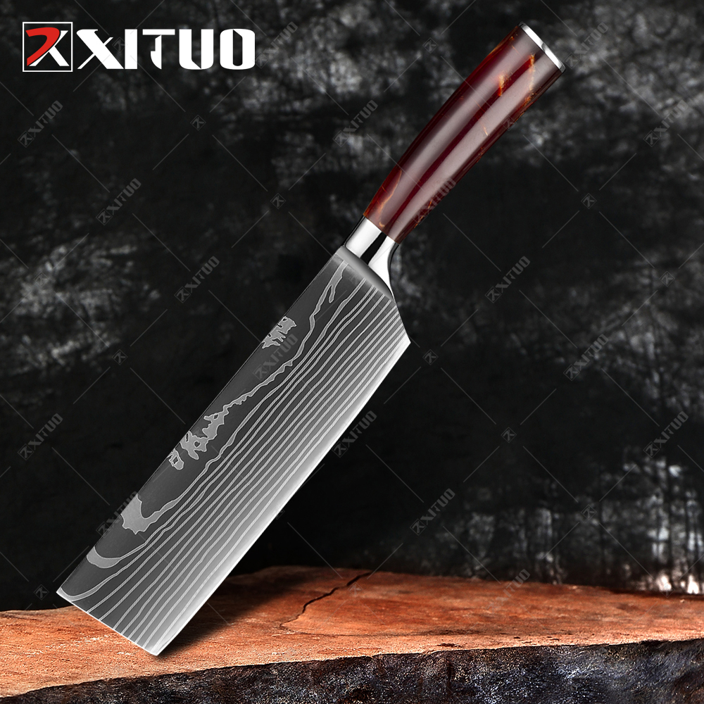7 in Nakiri knife