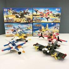 цена на 2Pcs fighters set building blocks toy fighter set DIY educational toys Christmas birthday gifts educational toys