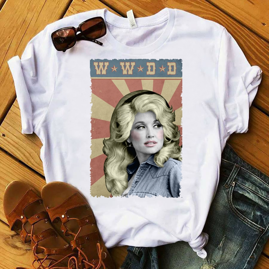 Dolly Parton Wwdd T-Shirt 2019 Summer Men's Short Sleeve T-Shirt O Neck Cotton Tees Tops Funny Tees Cotton Tops T Shirt