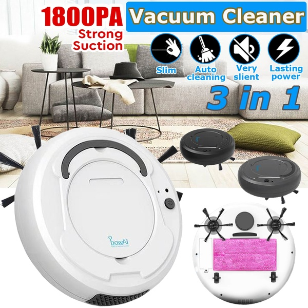 H7b7ef8004aec49d486083f40b2773695F 1800Pa Multifunctional Robot Vacuum Cleaner , 3-In-1 Auto Rechargeable Smart Sweeping Robot Dry Wet Sweeping Vacuum Cleaner Home