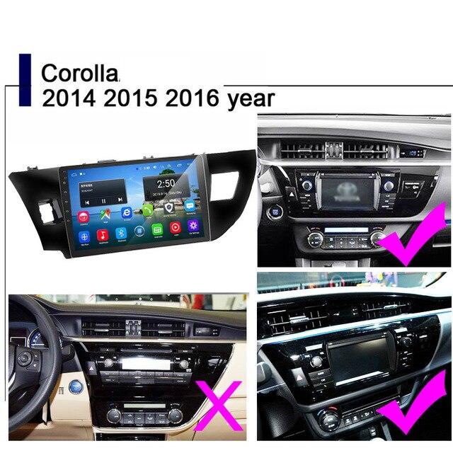 2Din android 8.1 samochodowe Radio odtwarzacz multimedialny dla Toyota Corolla E140/150 2007 2008 2009 2010 2011 2012 2013 2014 2015 2016 2 din