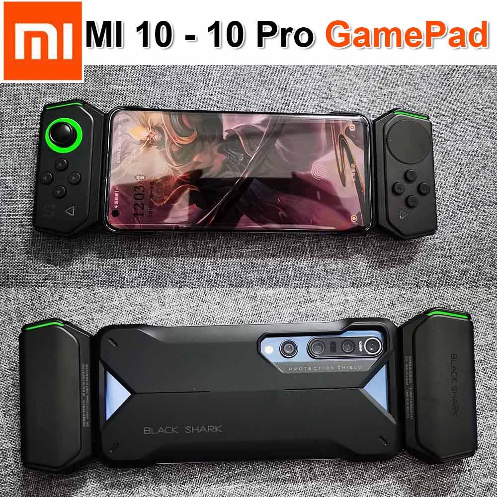 Двойной Bluetooth геймпад HJ66 для Xiaomi Mi 10 Pro, игровой рокер с чехлом на рельсах, джойстик для Mi10, черный акула