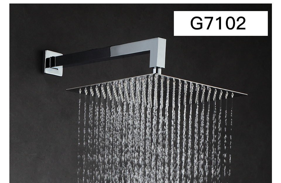 GAPPO Wall bathroom shower faucet brass set rainfall shower mixer tap chrome bathtub faucet tap waterfall Bath Shower 21