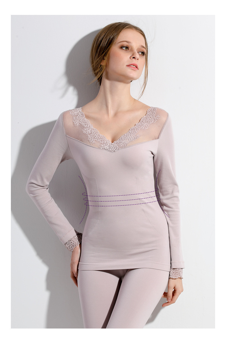 Free Shipping,winter Women's Warm Thermal Underwear Sets,female Sexy Lace Seamless Set,ladies Long Johns,Bottoming 40-65kgs