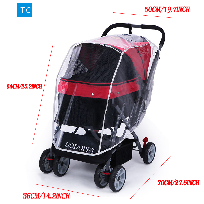 Pet Stroller Rain Cover Stroller Rain Cover Cart Rain Cover for All Kinds of Cat and Dog Carts 13