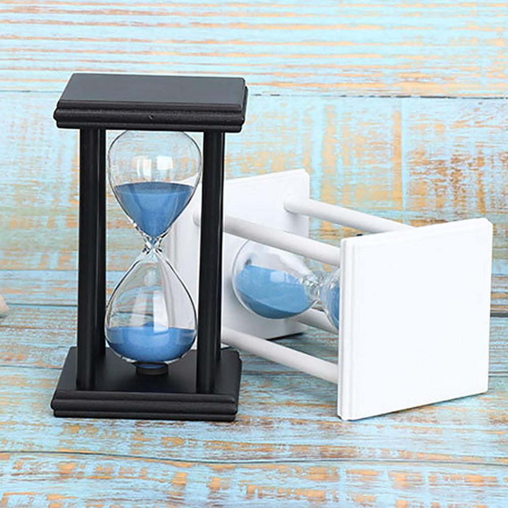 45/60min Wooden Sand Clock Sandglass Hourglass Timer Kitchen School Home Decor Kids Educational Toys For Children Gift