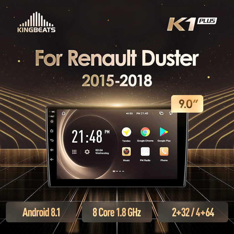 KingBeats Android 8.1 unità di testa 4G Car Radio Multimedia Video Player di Navigazione GPS Per Renault Duster 2015 2016 2017 2018