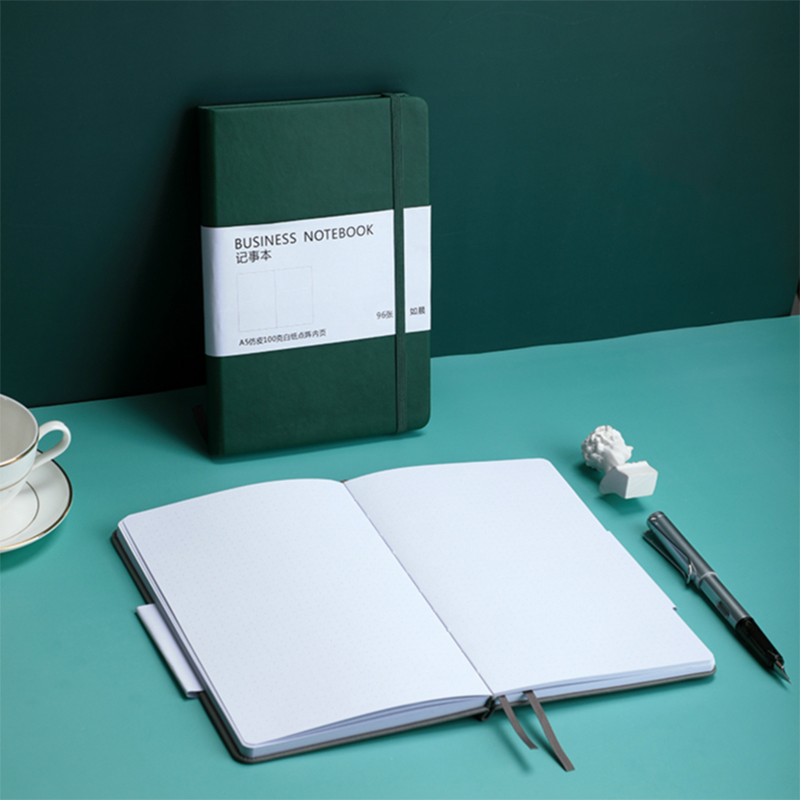 Vintage Solid Color Bullet Journal A5 Dotted Notebook Supplies 100gsm 96 Sheets Thicken Bullet Journal Weekly Planner Diary 2020