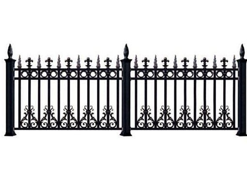 Aluminium Fence And Trellis Gate Slats Horizontal Metal Fence Panel
