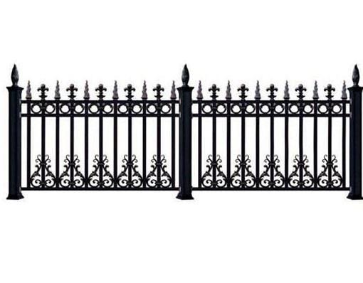 Aluminium Fence And Trellis Gate Slats Horizontal Metal Fence Panel