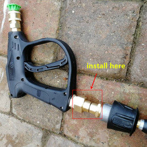 Image 4 - Hnyri arruela adaptador giratória m22 fêmea com m22 14mm rosca de bronze macho conectar à mangueira de pressão ou arma de espuma máquina de lavar a tubulação